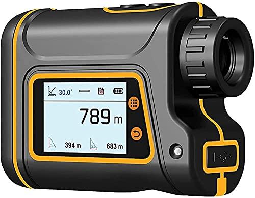 HTDHS Finder, Finder de Rango Multifuncional, buscador de Gama láser de Golf de Caza, Aumento de 6X, Jugar al Golf, Disparos Objetivo y Caza, 1500m (Negro)