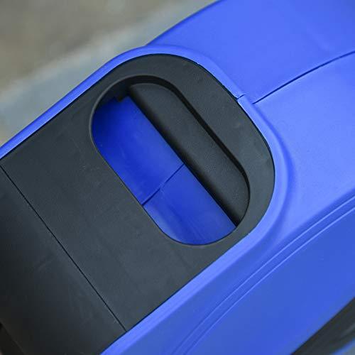 DURHAND Kabeltrommel 15 m+1.3 m Leitung Automatik Kabelaufroller Outdoor Aufroll stromkabel drehbar Wandhalterung, PP, Gummi, Metall, Schwarz + Blau, 28L x 16B x 27H cm