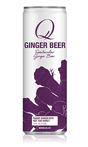 Q Mixers Ginger Beer, Premium Cocktail Mixer, 12 oz (12 Slim Cans)