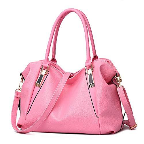 CUUXBO Borsa a mano Donna, Borse a Spalla Donna in PU Pelle Borsa a tracolla,Pink