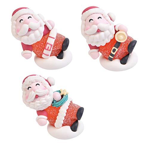 Dream' s Party Set 3 Babbo Natale in Gelatina e Zucchero - Soggetti Natalizi per Decoro Decorazioni Torte e Dolci - Decorazione Natalizia per Torte, panettoni, pandori e Dolci