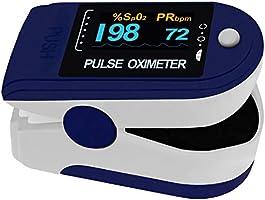 Pulsoximeter PO-200 Solo von Pulox in dunkelblau für die Messung des Puls und der Sauerstoffsättigung am Finger inkl....