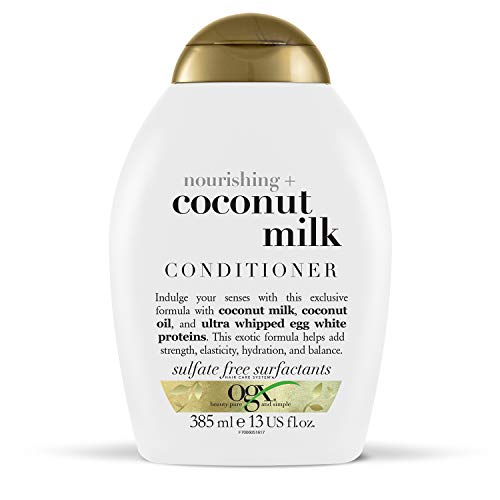 OGX Coconut Milk Conditioner for Dry Damaged Hair, 385 ml
