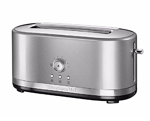 KitchenAid 5KMT4116BCU Long Slot Toaster - Silver