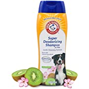 Arm & Hammer Super Deodorizing Shampoo for Dogs | Odor Eliminating Dog Shampoo for Smelly Dogs & Puppies With Arm & Hammer Baking Soda | Kiwi Blossom Scent, 20 Fl Oz