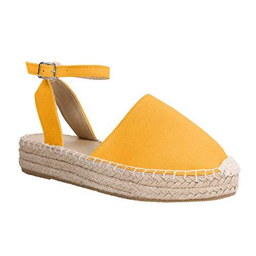 LAICIGO Womens Espadrilles Platform Wedge Sandals Elastic Crisscross Strappy Closed Toe Mid Heel Sandals