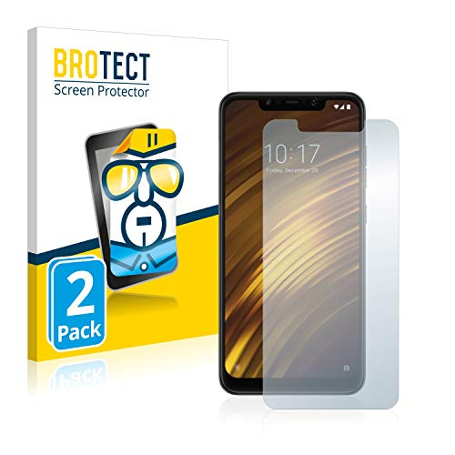 BROTECT Schutzfolie kompatibel mit Xiaomi Pocophone F1 (2 Stück) klare Bildschirmschutz-Folie