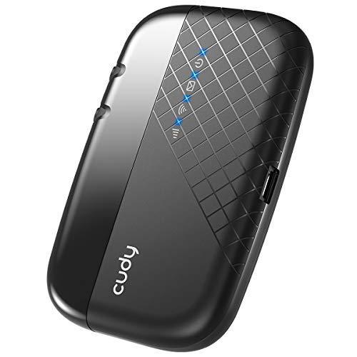 Cudy MF4 Routeur Mobile 4G LTE WiFi, Hotspot Mobile 4G LTE Wi-FI, Batterie Rechargeable 2000 mAh, 1 Port Micro USB, FDD et TDD, Qualcomm Inside, Slot de Carte SIM pour Tout opérateur