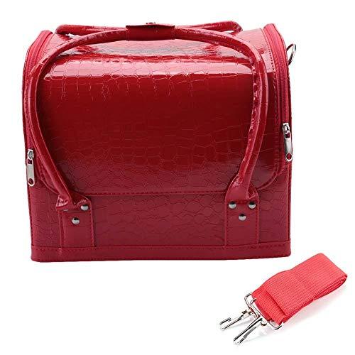 Sac cosmétique, sac de rangement de cas de bijoux de boîte cosmétique Sac de maquillage de beauté extra large pour ménage et voyage(1#)