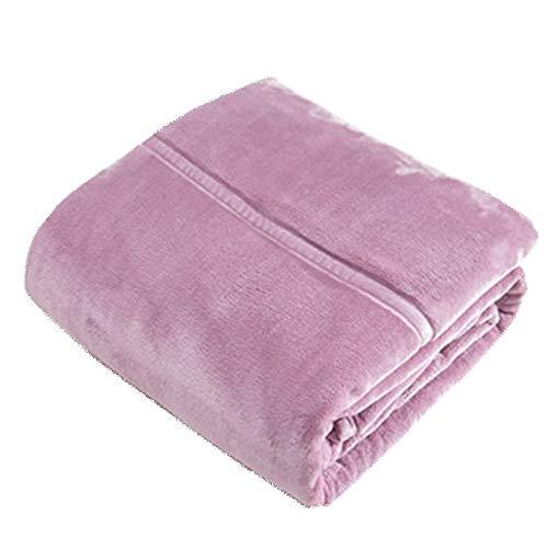 LIANG Manta de franela de piel sintética, ligera, acogedora y cálida, tamaño individual o doble XL (color: rosa, tamaño: 200 x 230 cm)