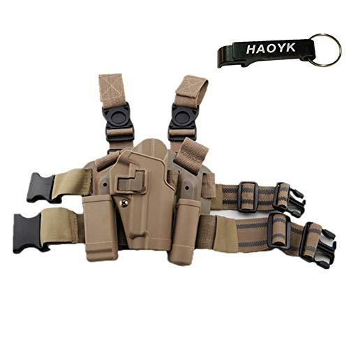 JOYASUS Einstellbare Tactical Airsoft Pistol Drop Bein Tasche Oberschenkel Rechts Beinholster mit Magazin Taschenlampe Beutel SIG SAUER P226 P228 P229