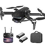 Drone con Camara 4K GPS 5G WiFi APP Control Drone Plegable Two-Axis Gimbal Brushless Motor 30Minutos 32km/h 500 Metros de Rc Distancia Ángulo de visión 150 ° 2200mAh PRO 5X3