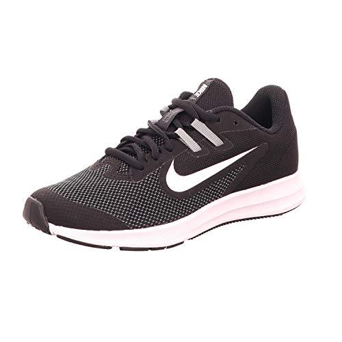 Nike Downshifter 9 (GS), Scarpe da Atletica Leggera, Nero (Black/Black/Anthracite 000), 36.5 EU