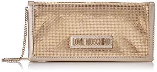 Love Moschino Jc4252pp0a, Pochette da Giorno Donna, Oro (Platinum Metal), 3x13x27 cm (W x H x L)