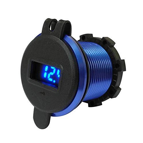 SSZZ LEDQC3.0 Intelligent snel opladen USB auto motorfiets mobiele telefoon oplader, mobiele telefoon adapter compatibel met iPhone iPad Huawei Samsung camera GPS