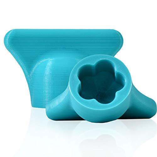 mix-slider - Monsieur Cuisine Connect kompatible Teigblume, Teiglöser Zubehör Küchenmaschine MCC 3D Gedruckt Made in Germany (Türkis)