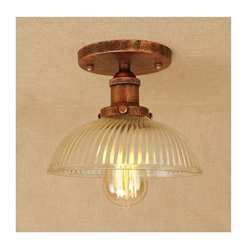 William 337 Plafondlamp, retro industrieel ijzeren glas, E27 111V ~ 240V, wooncultuur slaapkamer garderobe balkon cafe bar verlichting [energieklasse A ++] [energieklasse A ++]