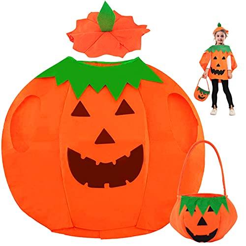 TaimeiMao Disfraz Calabaza Niño,Disfraz de Calabaza de Halloween,Disfraz calabaza bebe,Calabaza Niños de Halloween Disfraz,para Niños Halloween Ropa de Fiesta Cosplay Ropa