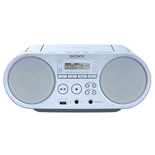 Oferta de Sony ZS-PS50 - Boomboxon CD y Radio Am/FM de 4W (estéreo, reproducción Mediante USB y Entrada de Audio), Azul