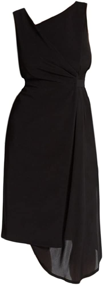 Elie Tahari Lila Mock Wrap Belted Dress