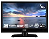 HKC 16M4: 39,6 cm (16 pollici) LED TV (HD-Ready, Triple Tuner, CI +, Media Player USB 2.0, Caricabatteria da auto 12V) [Classe energetica A +]