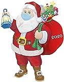 HUAMAO 3D dreidimensional Weihnachtsschmuck 2020 Weihnachtsschmuck Weihnachtsbaum Anhänger Weihnachtsmann gehört eine Maske, um den Weihnachtsbaum zu schmücken
