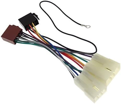 mitsubishi (1) radio adaptor car radio cable connector iso wiring harness  connection cable : amazon.de: electronics & photo  amazon