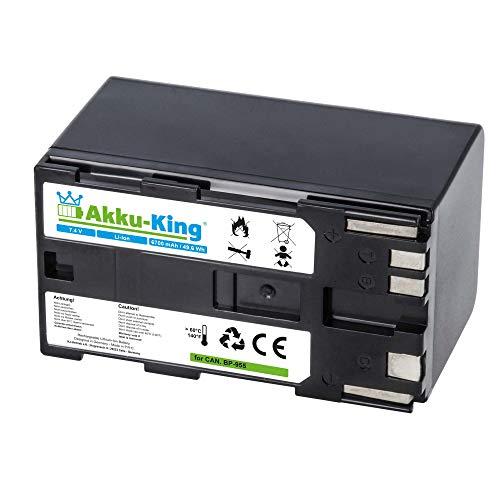 Akku-King Akku kompatibel mit Canon BP-955 - Li-Ion 6700mAh - für Canon EOS C100, EOS C100 Mark II