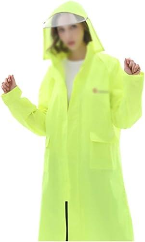 Yuany Poncho Coupe-Vent Coupe-Vent Coupe-Vent à Capuche en Plein air pour Femmes épaisses avec Capuchon (Couleur  Vert Fluorescent, Taille  M)