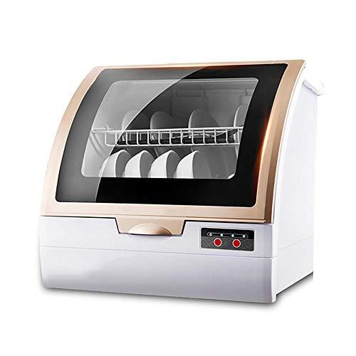 Lave Vaisselle Noir, Lave-Vaisselle Portable Automatique à Installation Gratuite, Lave-Vaisselle Compact avec SystèMe de PulvéRisation à 360°, Double SéChage