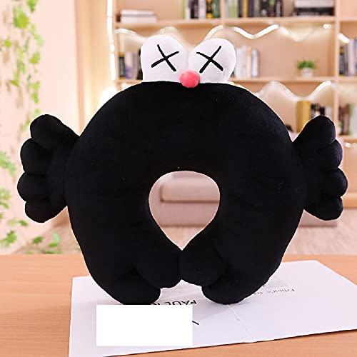 Kaws Sesame Street muñeca negra de peluche de juguete de 45 * 35 cm, muñeco de peluche para amantes, regalo de vacaciones para niños, almohada en forma de U
