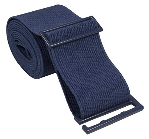 Gelante Lady Invisible Belt - Web Canvas Elastic Adjustable Skinny No Show Belt-2051-Navy (14+)