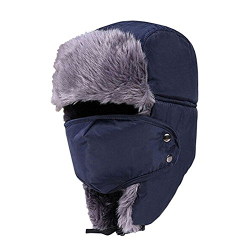 Rosenice - Gorro de esquí Ushanka, con orejeras y máscara,