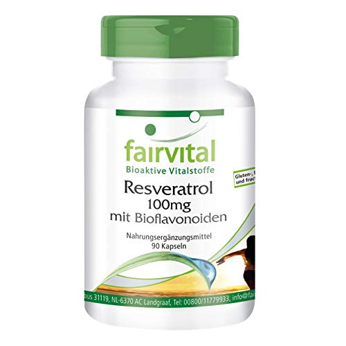 Resveratrol 100mg capsules met bioflavanoïden - VEGAN - 90 capsules - met rutine, OPC en quercetine