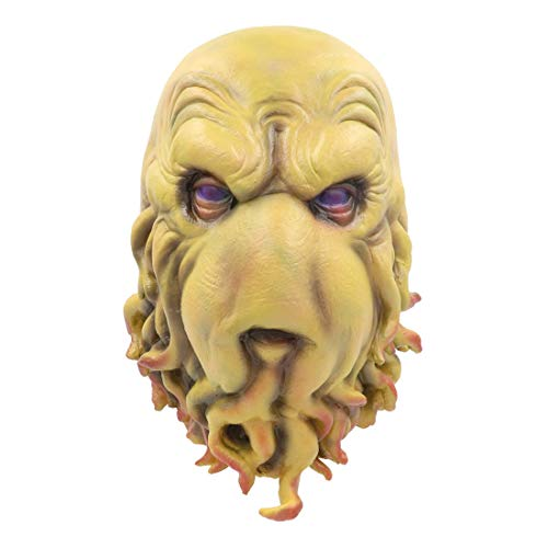 Shenme Creepy Horror Halloween Kostüm Maske Kopfschmuck Horror-Maske Adultparty Dekoration Props bösen Lord Cthulhu Mask