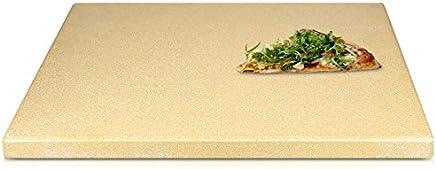 Navaris piedra para pizza de cordierita - Piedra de horno para pizza pan pasteles de 38x30x1.5CM - Plato rectangular para grill en beige tamaño XL