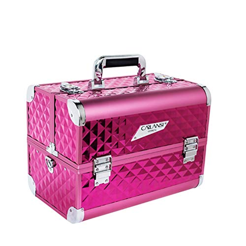Aluminiumkosmetik Case Professional Portable Large Beauty Kit,Pink