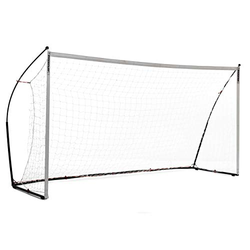 QuickPlay Kickster Elite Soccer Goal 16x7' – Ultra Portable Indoor & Outdoor Football Goal Features Weighted Base [Single Goal] (5 x 2M / 16 x 7')