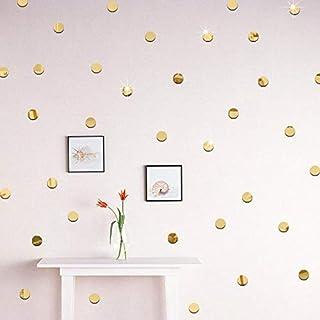 100pcs/lot 2cm 3D Diy Acrylic Gold Mirror Wall Sticker Round Shape Stickers Decal Mosaic Mirror Effect Livingroom Home Decor