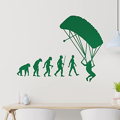 Graz Design - Adhesivo decorativo para pared, diseño de evolución de paracai