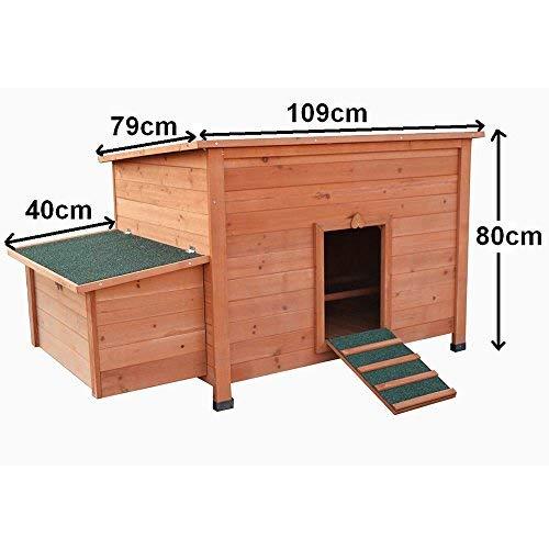 Hühnerstall Hühner Käfig Legenest aus Holz ca. 149 x 80 x 79 (BxHxT) - 3