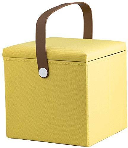 B-fengliu Sólida de Madera del Escabel otomana Sofá heces Plegable portátil Cambio almacenaje de los Zapatos de poliéster, 4 Colores (Color : B)