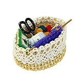 Tvvudwxx 1:12 Miniatur Wolle Strickwerkzeug Puppenhaus Schlafzimmer Dekoration Puppenstubenzubehör