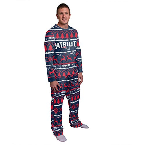 FOCO NFL Winter Xmas Pyjama Schlafanzug - New England Patriots XL