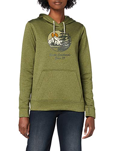 Burton Damen Oak Hoodie, Martini Olive Heather, XXS