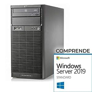 HP ML110 G6 Tower Xeon Quad Core X3430-16gb RAM- 2X 500 GB sata - Raid - Windows Server 2019 Standard (Ricondizionato)