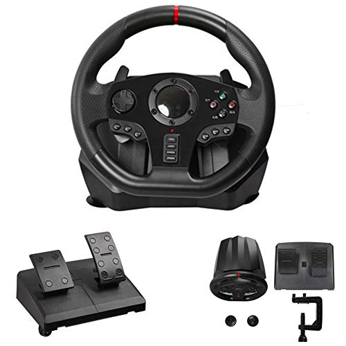 270/900 Grad Motor Vibration Fahr Gaming Racing Wheel, Mit Responsive-Gang Und Pedale Für PC / PS3 / PS4 / Xbox One/Xbox 360 / Switch/Android