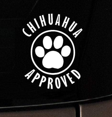 Calcomanía de vinilo removible para coche de Chihuahua para adoptar mamá, I, amor, mi, perro, vinilo, coche, ventana, calcomanía, rescate, 15,24 cm