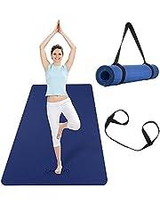 CAMBIVO Extra brede yogamat, TPE milieuvriendelijk (183 x 80 x 0,6 cm), antislip fitnessmat, lichtgewicht reisyogamat voor yoga, pilates, training, gymnastiek…