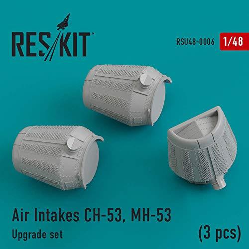 RESKIT Air Intakes Sikorsky CH-53, MH-53 Detailing Sets (3 PCS) RSU48-0006 1:48